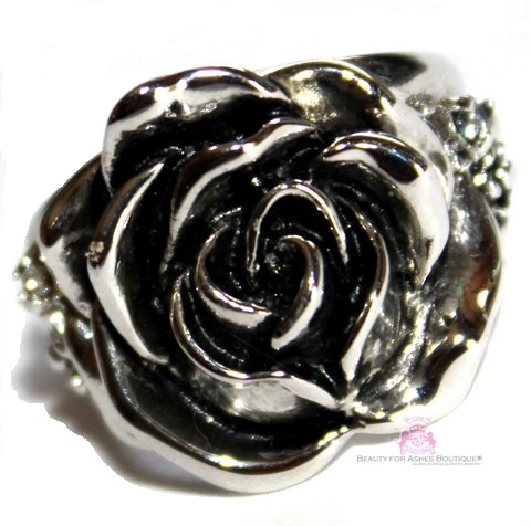 Rose of Sharon Vintage Antique Flower Ring