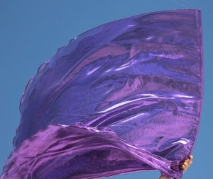 Royalty Amethyst Purple Worship Flags with Flex™ Set of 2