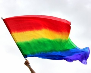 Silk Oversized Double Layer Rainbow Stick Worship Banner Flag