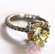 925 Sterling Silver Queen Anne Engagement Cz Ring
