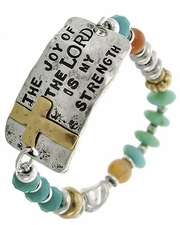 The Joy of the Lord is My Strength Beaded Stretch Bracelet