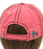 Warm Pink Y'all Need Jesus Distressed Baseball Cap Hat