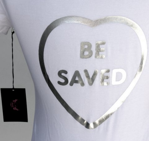 White Silver Foil Choose Jesus Be Saved T-Shirt