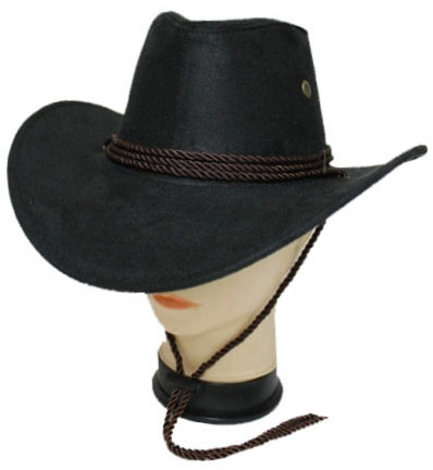 Women's Lightweight Bolero Black with Brown Trim Western Cowgirl Fashion Hat