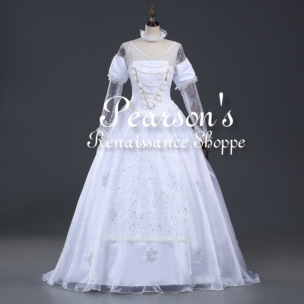 cf9e172731 Alice In The Wonderland White Queen Dress Cosplay Costume
