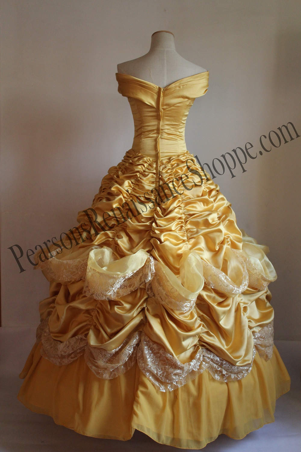 Disney Beauty And Beast Princess Belle Multilayer Cosplay Costume Dress