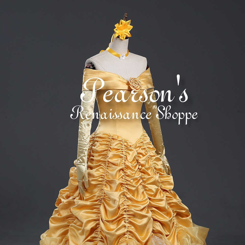 Disney Beauty And Beast Princess Belle Multilayer Cosplay Costume ...