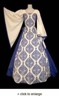 Blue Damask Duchess