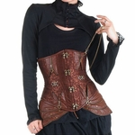 Brown Burlesque Corset