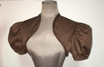 Brown Shrug with Short Sleeves