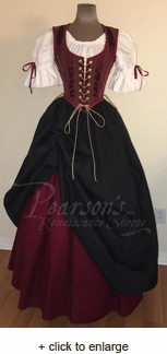 Burgundy Maiden Pirate Bodice Set