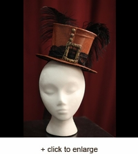 Burlesque Top Hat with Feather