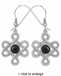Celtic Knot Symbol Earrings