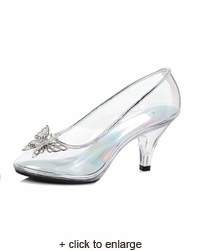 Cinderella Clear Slipper with Silver Butterfly