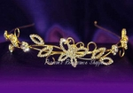Crystal Gold Butterfly Headband