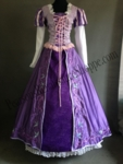 Disney Tangled Rapunzel Embroidered Dress