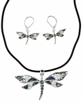 Dragonfly Necklace and Earrings Set