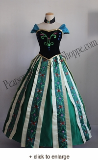 Frozen Anna Coronation Embroidery Dress Set