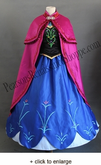 Frozen Anna Winter Embroidered Costume