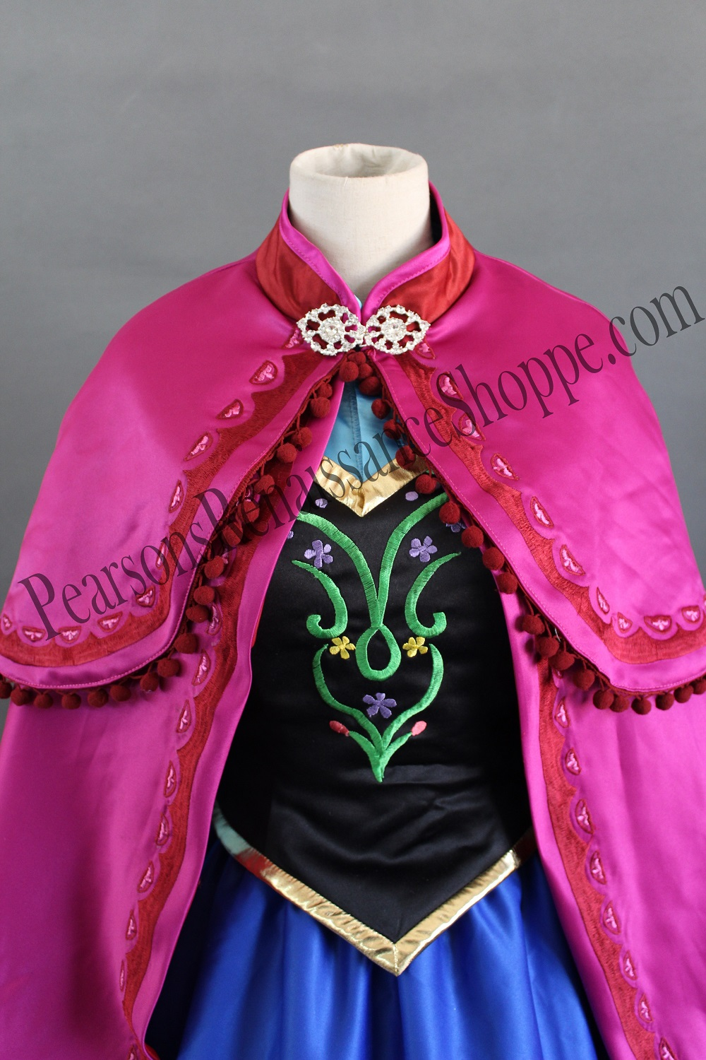 Frozen Anna Winter Embroidery Costume Set
