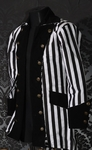 Gothic Striped Pirate Jacket