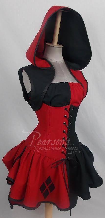 Harley Quinn Inspired Set Cosplay Renaissance Clothing