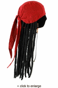 jack sparrow pirate scarf with dreads