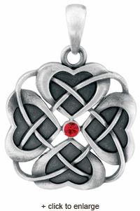 Knot of Hearts Pendant