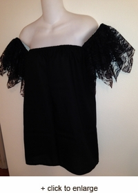 Lace Fairy Cuff Sleeve Chemise Top