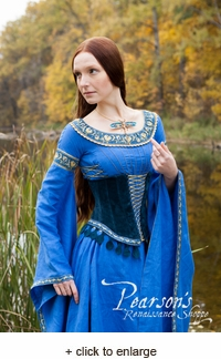 Lady of the Lake with Medieval Suede Corset