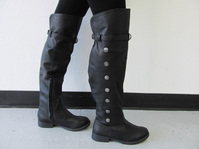 50% off utterly stylish forefront of the times Landon Thigh Boot - medieval renaissance footware boot