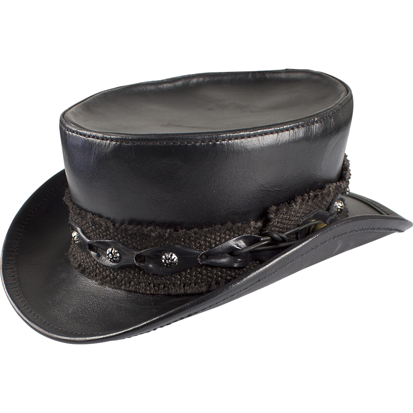 Steampunk Leather Top Hat 76dcaae6a51