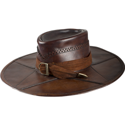 Leather Witch Hunter Hat- pirate swashbuckler medieval renaissance ... c6a1a710a8f