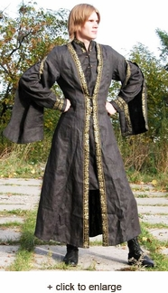 Long Medieval Flax Overcoat