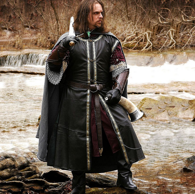 Lord of the Rings Boromir Leather Surcoat - Medieval