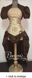 Lord of the Rings Middle Earth Elvish Writing Corset Set