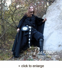 "Medieval Black Cotton Cloak ""On Watch"""