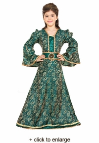 Medieval Brocade Girls Dress