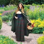 Medieval Cotton Cross Over Hooded Cloak