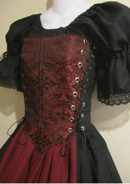 1556363dc80 Medieval Cross Bodice - medieval renaissance wench clothing