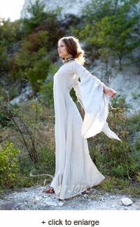 "Medieval Flax Linen ""Archeress"" Chemise"