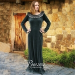 Medieval Winter Forest Green Dress