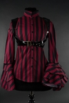 Steampunk Striped Buckle Blouse