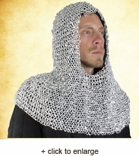 Riteted Aluminum Chainmail Coif