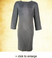 Riveted Long Sleeved Chainmail Hauberk