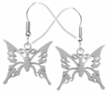 Stainless Steel Butterfly Earrings