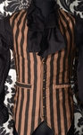 Steampunk Striped Long Vest