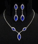 Triple Navette Drop Necklace & Earring Set