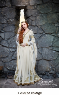 "White Velvet Wedding Dress ""The Accolade"""