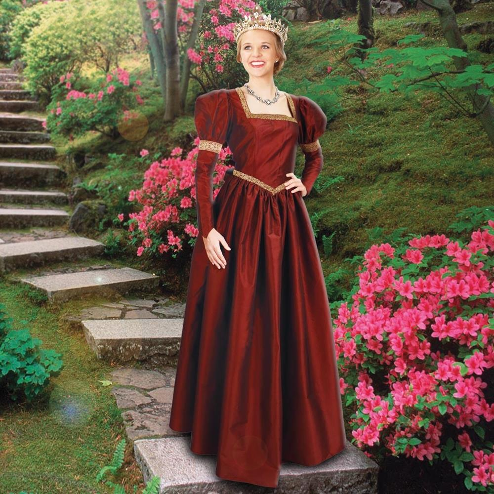 Windsor Gown Taffeta Medieval Dress Red Or Green